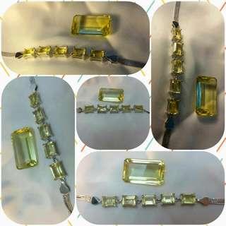 Lemon Quartz silver 925 bracelet 檸檬晶銀手鍊