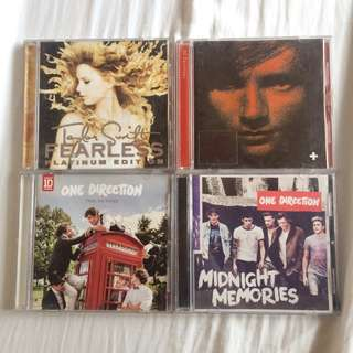 Taylor Swift, One Direction & Ed Sheeran Albums
