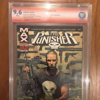 Punisher Max #1 CBCS 9.6 signed by Tim Bradstreet not CGC