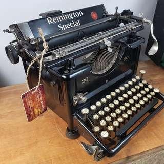 1922 年 REMINGTON SPECIAL 20 古董打字機 美國製