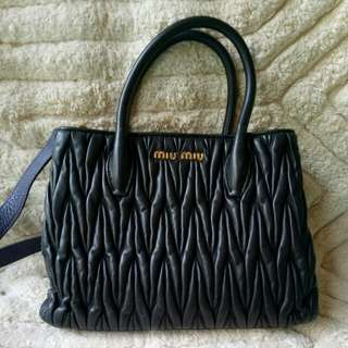 Authentic MiuMiu Matellase two way bag