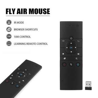 Rechargeable 2.4G Mini Wireless Air mouse with Infrared Remote Learning Control Keyboard for GoogleAndroid TV/Box. IPTV. HTPC. Windows. MAC OS. PS3 (MX9-A)