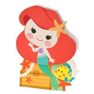 JAPAN DISNEYSTORE, JAPAN IMPORTED: Sticky Pad Series: Little Mermaid Flower Stand Type sticky memo pad
