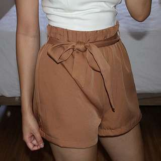 Tan High Waisted Shorts