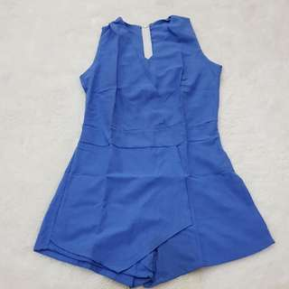 Blue jumpsuit skort