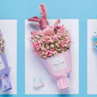 V day bunny Fairy lights bouquet