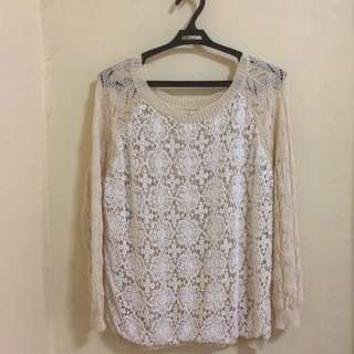 Knitted Cream Pullover