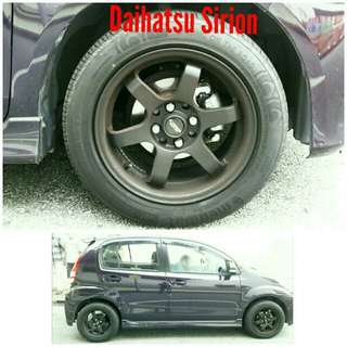 Tyre 195/55 R15 Membat on Daihatsu Sirion 🐓 Super Offer 🙋