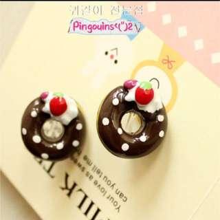 🐧韓國甜甜圈樹脂耳夾Korean donut resin ear clip
