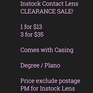 Clearance Sale Instock Contact lens