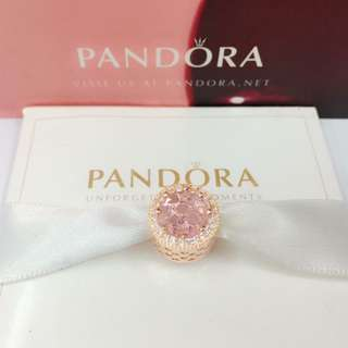 Authentic Pandora Charm Classic  Charm 92.5 Sterling Silver Saudi Gold 18K (Not Pawnable)