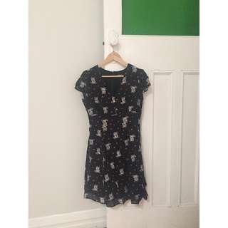 Dangerfield Lucky Cat Black Dress