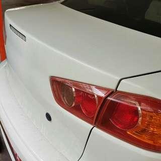 Mitsubishi Lancer Ex carbon fiber boot