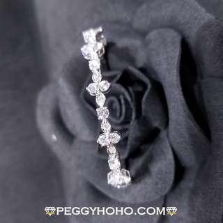【Peggyhoho】全新18K白金 2卡 真鑽石耳手厄 手鐲|手鐲系列 |奢華品味