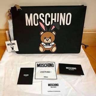 Moschino playboy 大 size  Clutch Bag (playboy bear 手包)