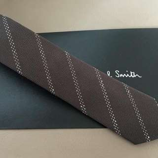 全新Paul Smith 啡色7cm Tie