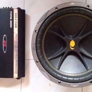 Kicker subwoofer & amplifier