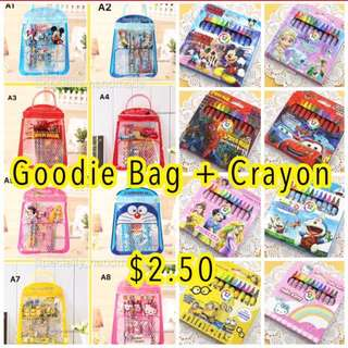 Goodie Bag with CRAYON SET ($2.50 per set ONLY)
