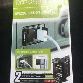 USB port / charger for Toyota Vellfire & Alphard - NEW unit