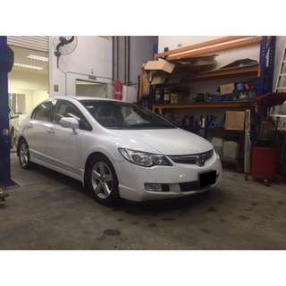 Honda Civic White $49/day UBER/GRAB PROMO