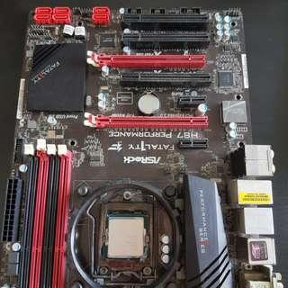 ASrock H87 fatal1ty i5 4440 ram 8gb PC desktop
