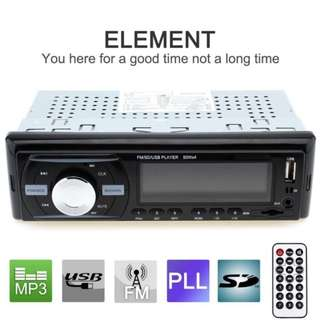 Car Audio Stereo In-Dash 1 DIN 12V Car  Radio MP3 Player Support FM UPS WMA INP AUX and Clock