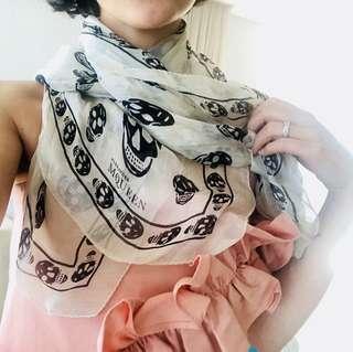 Authentic - Alexander McQueen silk skull scarf
