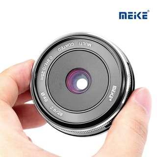 Meike 28mm F2.8 Manual Prime Lens Sony E mount Mirrorless Alpha Nex