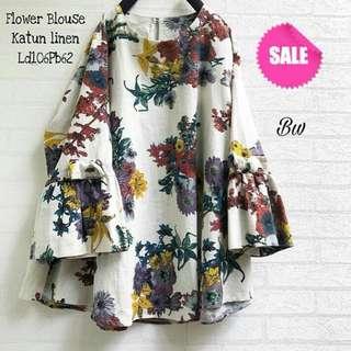 Flowery bat shirt