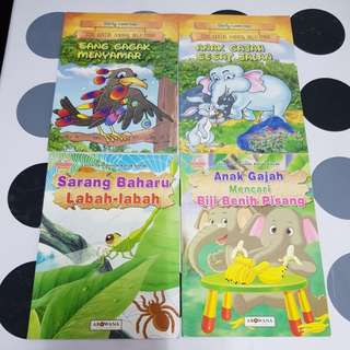 Malay children's story books (4 titles)