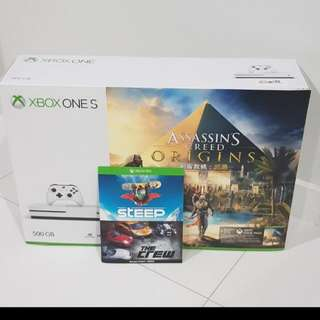 Xbox One S Assassin's Creed Origins Bundle (500gb)