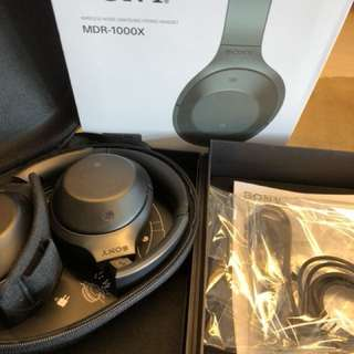 SONY MDR 1000X wireless noise cancelling