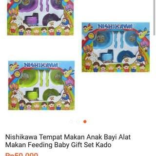 Tempat makan bayi / alat makan Nishikawa Feeding baby gift set kado