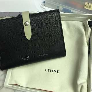 85% 新 Celine 銀包 Strap Medium Wallet