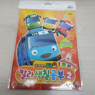 [NEW] TAYO THE LITTLE BUS COLOURING BOOK WITH STICKERS [MADE IN KOREA] [ORIGINAL]