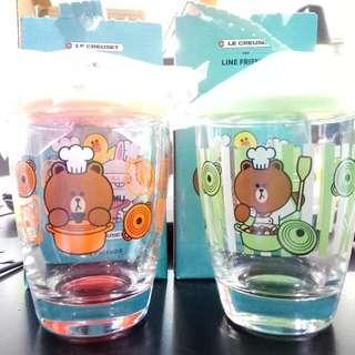 7-11 Line Friends Brown玻璃杯