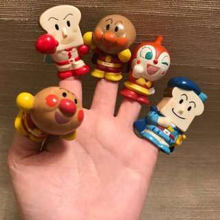 麵包超人 finger figures and dolls