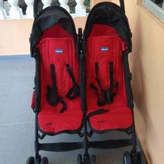 Chicco Echo Twin Stoller ( Garnet )