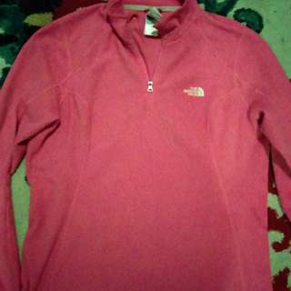 Woman's pink North Face fleece