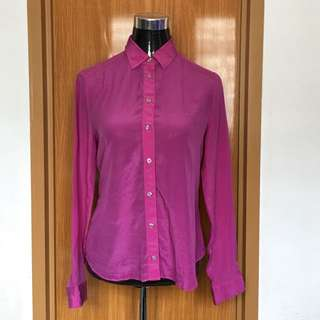 Fuschia Button Down Top