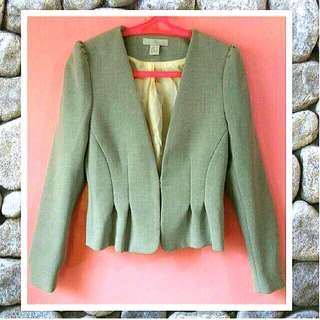 💋 H&M Peplum fitted blazer / gray blazer