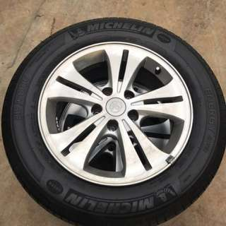 """16"""" sport rims with tyres good thread toyota"""