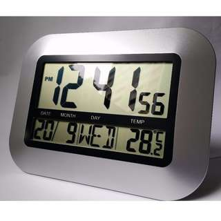 Digital Desk / Wall Clock with Temperature Sensor