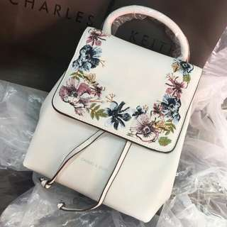 Charles&keith backpack flower original import