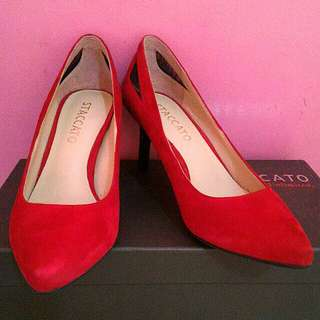 💋 STACCATO Heel Pumps shoes / Red pumps