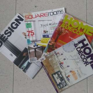ONE LOT of FOUR home-decoration magazines