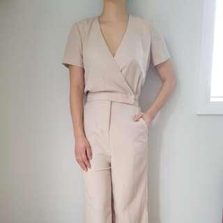 ASOS nude pink jumpsuit romper - XS