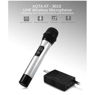 💯 AQTA AT - 301S UHF Wireless Microphone Handheld Mic