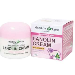 Lanolin cream with vitamin E