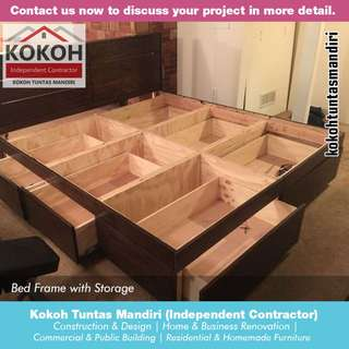 Bed Frame with Storage KF-BF01 [Made To Order] Yogyakarta